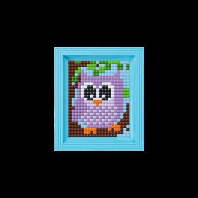 Pixel XL készlet, Lila bagoly (Pixelhobby, 1 alaplapos, kerettel)