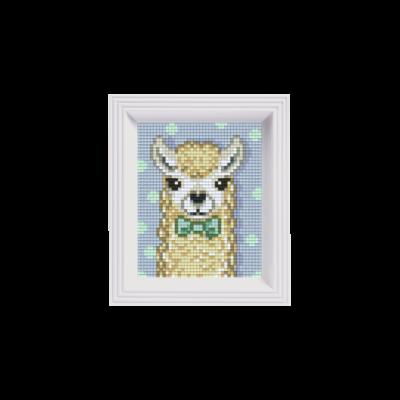 Pixelhobby képkészlet, Fehér Alpaka (1 alaplapos)