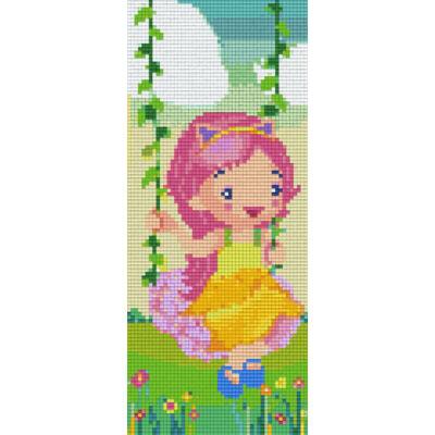 Pixelhobby képkészlet, Hintázó kislány (3 alaplapos)