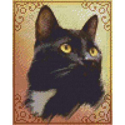 Pixelhobby képkészlet, Fekete CICA barna (4 alaplapos)