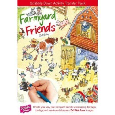 Satírmesék, Farm állatai (Scribble Down, satírozós kreatív játék, 4-10 év)
