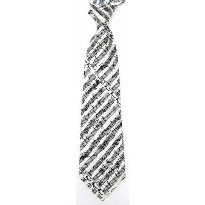 e7ffe0373a Selyem nyakkendő, Fekete-fehér (zenei ajándéktárgy) - Fusselvéle ...