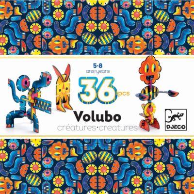 Volubo, Kreaturák 36db-os (Djeco, 5633, kreatív építőjáték, 3-8 év)