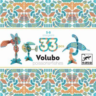Volubo, Halak 33db-os (Djeco, 5634, kreatív építőjáték, 3-8 év)
