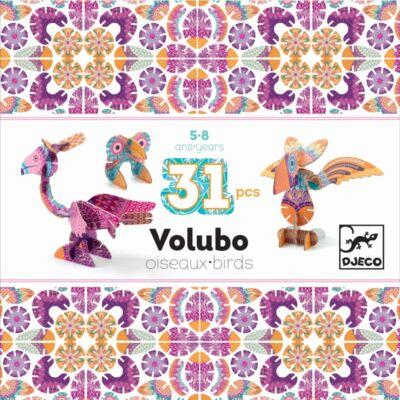 Volubo, Madarak 31db-os (Djeco, 5635, kreatív építőjáték, 3-8 év)
