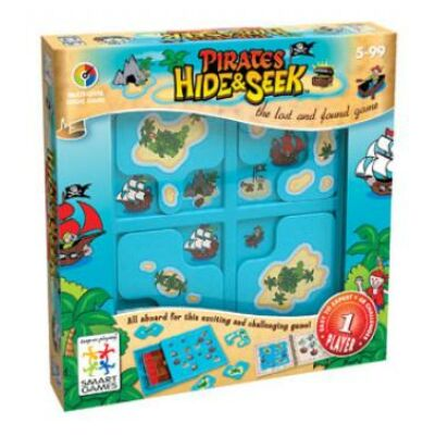 Kalózrejtő (Smart Games, Hide and Seek Pirates , logikai játék, 5-99 év)