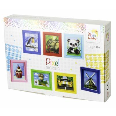 Pixelhobby ajándékdoboz, mini mosaic