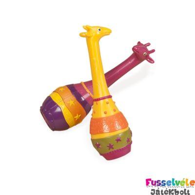 B.TOYS  Zsiráf maracas (csörgő hangszer)