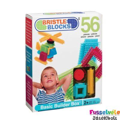 BRISTLE BLOCKS készlet - 56db (Bébi építőjáték, 18 hó-5 év)