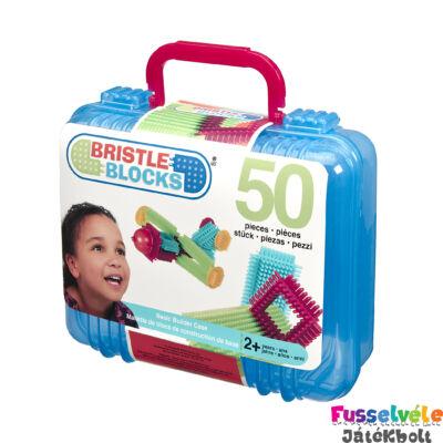 BRISTLE BLOCKS bőröndben - 50db (Bébi építőjáték, 18 hó-5 év)