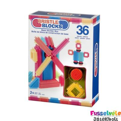 BRISTLE BLOCKS készlet - 36db (Bébi építőjáték, 18 hó-5 év)