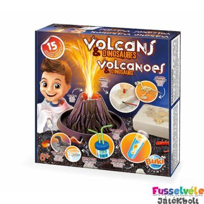 Kísérletező készlet, Vulkánok és Dinók (BUKI, Tudományos építőjáték, 8-99 év)