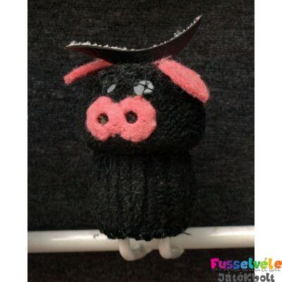 Zsűrizett ujjbáb - tehén fekete