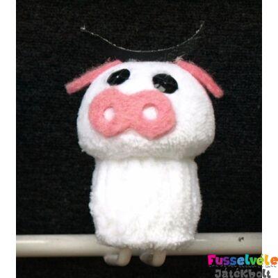 Zsűrizett ujjbáb - tehén fehér