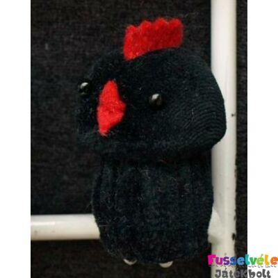 Zsűrizett ujjbáb - csibe fekete