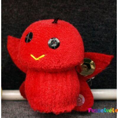 Zsűrizett ujjbáb - pillangó piros