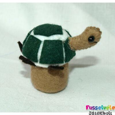 Zsűrizett ujjbáb - teknős