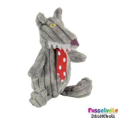 Plüssfigura, 15 cm-es, Bigbos, a farkas (Deglingos, 32100, gyerekjáték, 0-12 év)