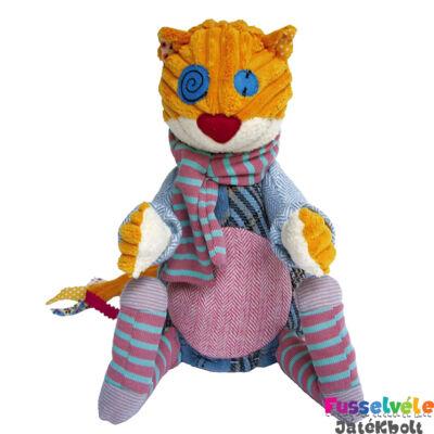 Plüssfigura, 26 cm-es, RONRONOS, a macska (Deglingos, 36501, gyerekjáték, 0-12 év)