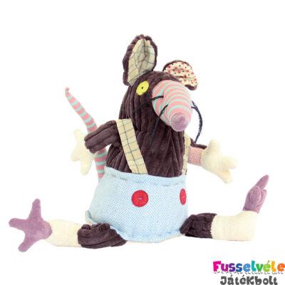 Plüssfigura, 26 cm-es, RATOS, a patkány (Deglingos, 36504, gyerekjáték, 0-12 év)