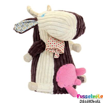 Plüssfigura, 26 cm-es, MILKOS, a tehén (Deglingos, 36507, gyerekjáték, 0-12 év)
