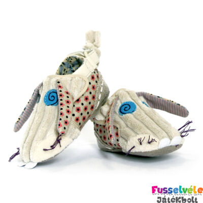 Bébi cipőcske, Nyuszi, 6-12 hónap (Deglingos, KBUN2 , bébiruházat, 0-1 év)
