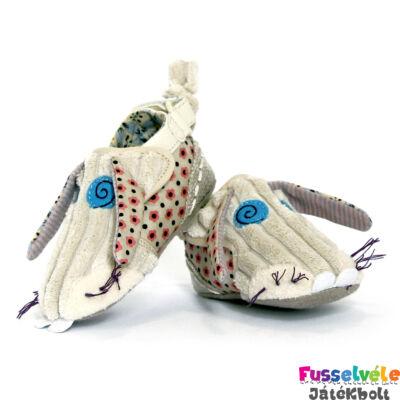 Bébi cipőcske, Nyuszi, 18-24 hónap (Deglingos, KBUN4, bébiruházat, 0-1 év)