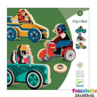 Clipacar autószerelő játék, Djeco készségfejlesztő fajáték - 1673 (3-6 év)
