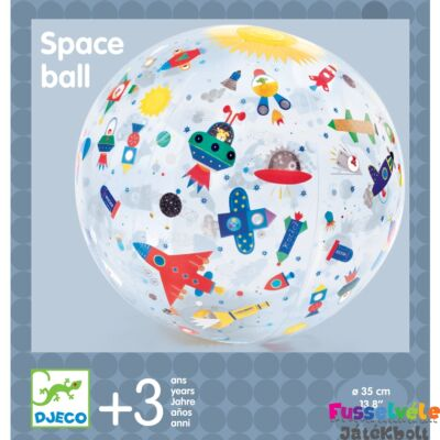 Felfújható labda, Űrhajók (Djeco, 0172, strandlabda, 3-8 év)
