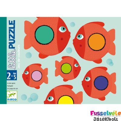 Első kártyajáték, Little Puzzle (Djeco, DJ05060, színek tanulása, 2-5 év)