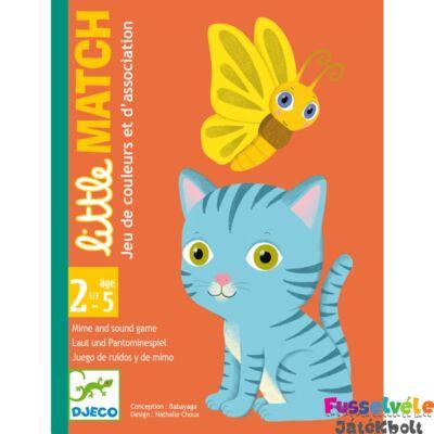 Kártyajáték, kicsi kezekbe Little Match (Djeco, DJ05061, párosító, 2-5 év)