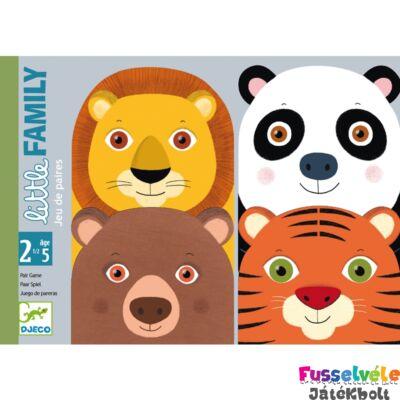 Párosító kártyajáték, Little Family (Djeco, DJ05062, első játékok, 2-5 év)