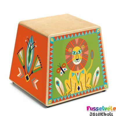 Perui dobozdob - Animambo CAJON (Djeco, 6014, játékhangszer, 2-6 év)