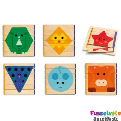 Lécépítő kirakó - Puzzle Basic (Djeco, 6211, fa 2-4 év)