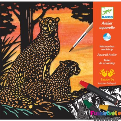 Aquarell készlet Dzsungel állatok, Djeco kreatív szett (6-10 év)