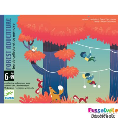 Kalandpark (Djeco kooperációs és memóriafejlesztő kártyajáték - 5180, 6-99 év)