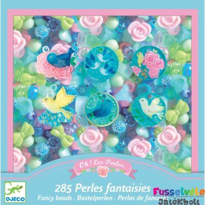 Ékszerkészítő szett gyöngyökkel Birds (Djeco kreatív készlet - 9856, 6-10 év)
