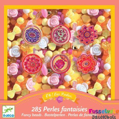 Ékszerkészítő szett gyöngyökkel Flower (Djeco kreatív készlet - 9854, 6-10 év)