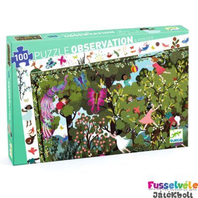 Megfigyelő puzzle, Garden play time (Djeco, 7512, 100 db-os kirakó, 5-12 év)