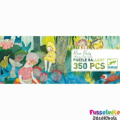 Művész puzzle, River Party , Djeco, 350db-os kirakó 7618 (7-99 év)
