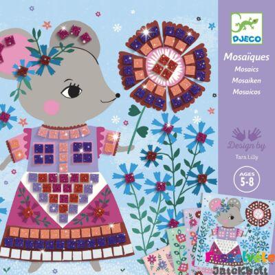Művészeti műhely, Lovely pets mozaikkép készítés, Djeco kreatív szett (5-8 év)