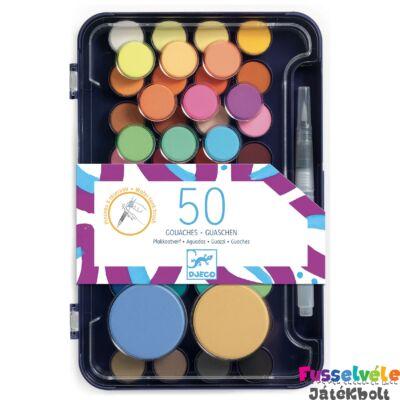 Korongos gouache festék - Művész paletta - Artist's palette (Djeco, 9784, kreatív játék, 2-10 év)