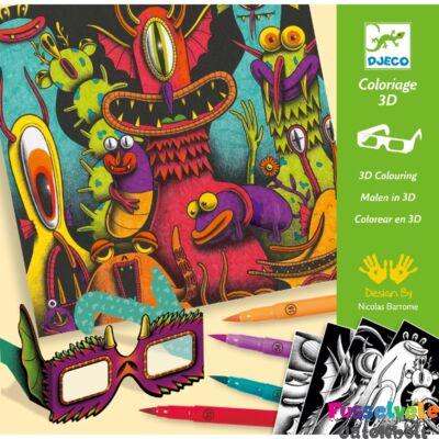 Funny Freaks 3D színezés, Djeco kreatív készlet - 8651 (7-13 év)