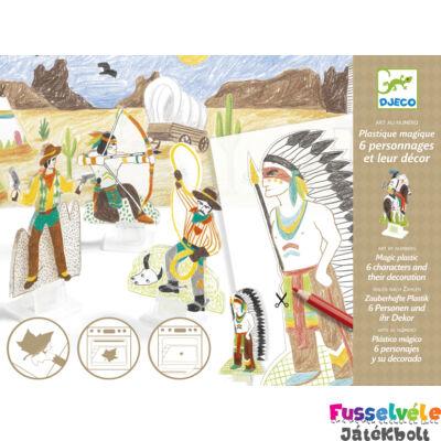 Kisüthető figurák, Vadnyugat (Djeco, 9492, kreatív játék, 4-8 év)