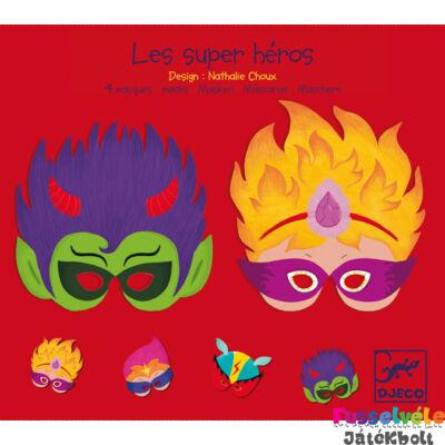 Álarc készítő, szuperhősök (Djeco, 2070, partikellék, 5-10 év)