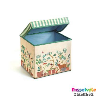 Tárolódoboz Garden toy box, Djeco gyerekszoba kiegészítő