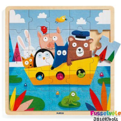 Puzzlo Boat (Djeco 25 db-os fa bébi puzzle - 1816, 2-4 év)