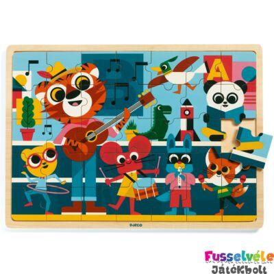 Puzzlo Music (Djeco 35 db-os fa puzzle - 1817, 3-6 év)