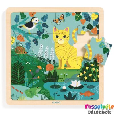16 db-os fa kirakó Lili cica (Djeco puzzle - 1819, 2-5 év)