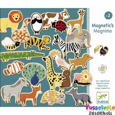 Mágneses játék, Magnimo (Djeco, 3127, 36 db-os állatos kirakó, 2-5 év)